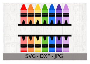 Crayon Split Monogram - Personalize It Etc
