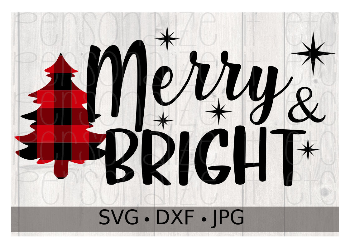 Merry & Bright - Personalize It Etc