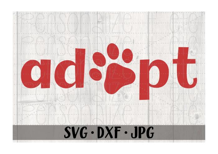 Adopt 'Paw Print' - Personalize It Etc