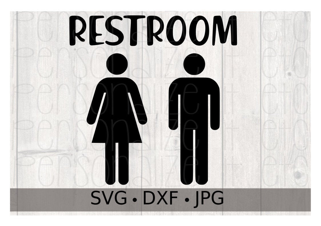 Restroom Sign - Personalize It Etc