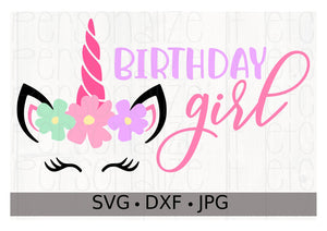 Unicorn Birthday Girl - Personalize It Etc