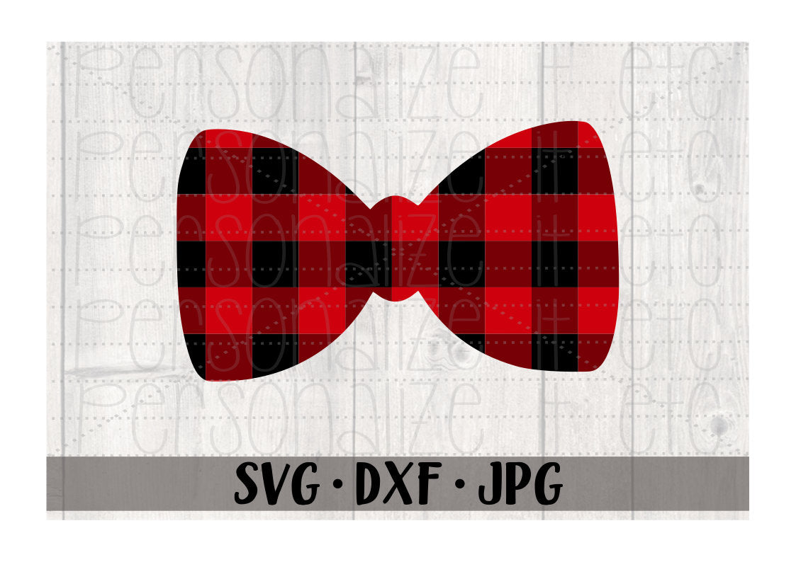 Buffalo Plaid Bow Tie - Personalize It Etc