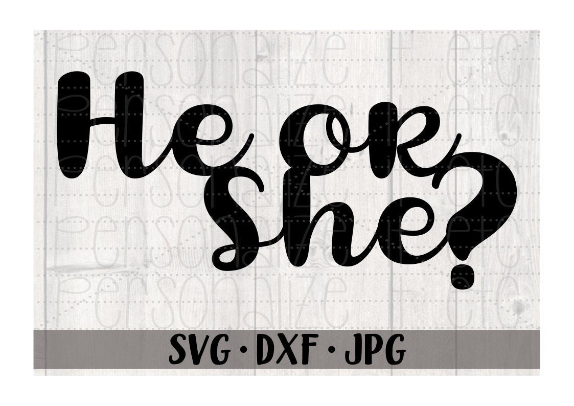 He or She Cake Topper - Personalize It Etc