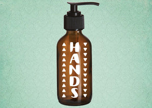 Hands Amber Glass Soap Dispenser - Personalize It Etc
