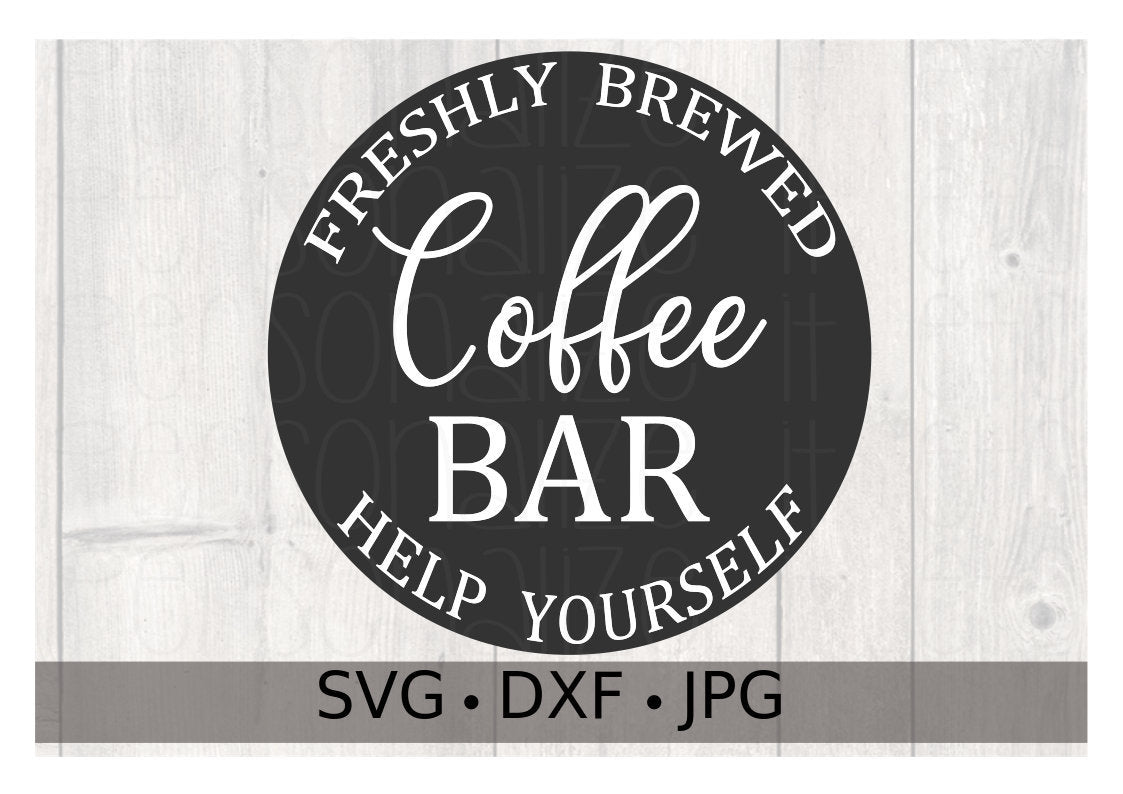 Freshly Brewed Coffee Help Yourself - Personalize It Etc