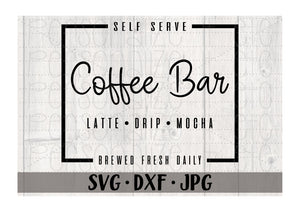 Coffee Bar Self Serve Brewed Fresh - Personalize It Etc