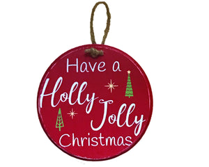 "Have a Holly Jolly Christmas 8"" Wood Sign - Personalize It Etc"
