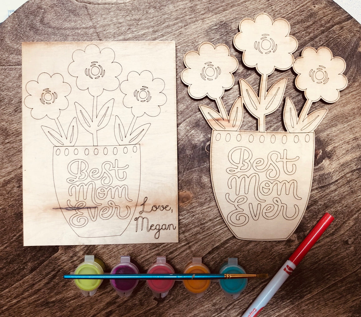 DIY Wood Mother's Day Cards - Personalize It Etc