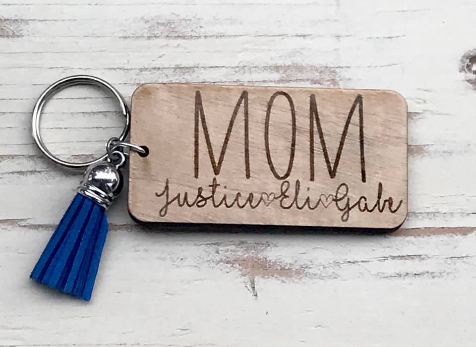 Personalized Mom Kids Name Keychains | Mother's Day Gift