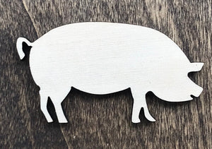 Pig- Unfinished Wood Blank