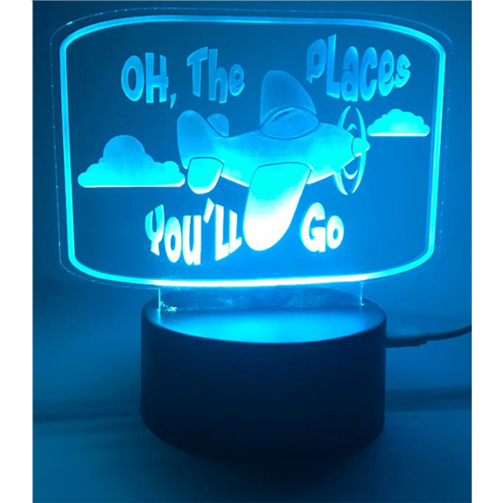 Airplane Acrylic LED Nightlight - Personalize It Etc