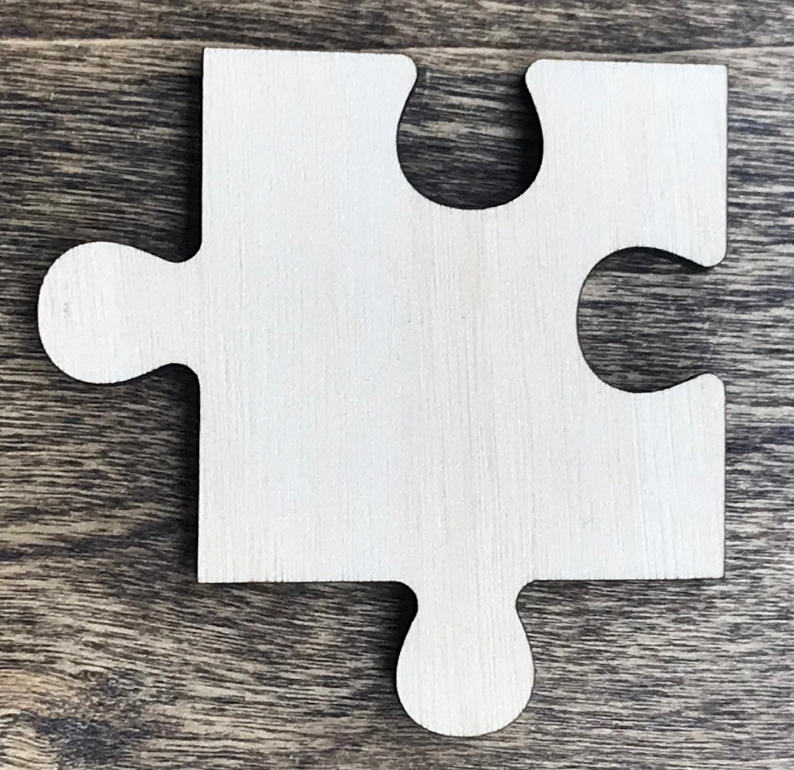 Puzzle Piece - Unfinished Wood Blank