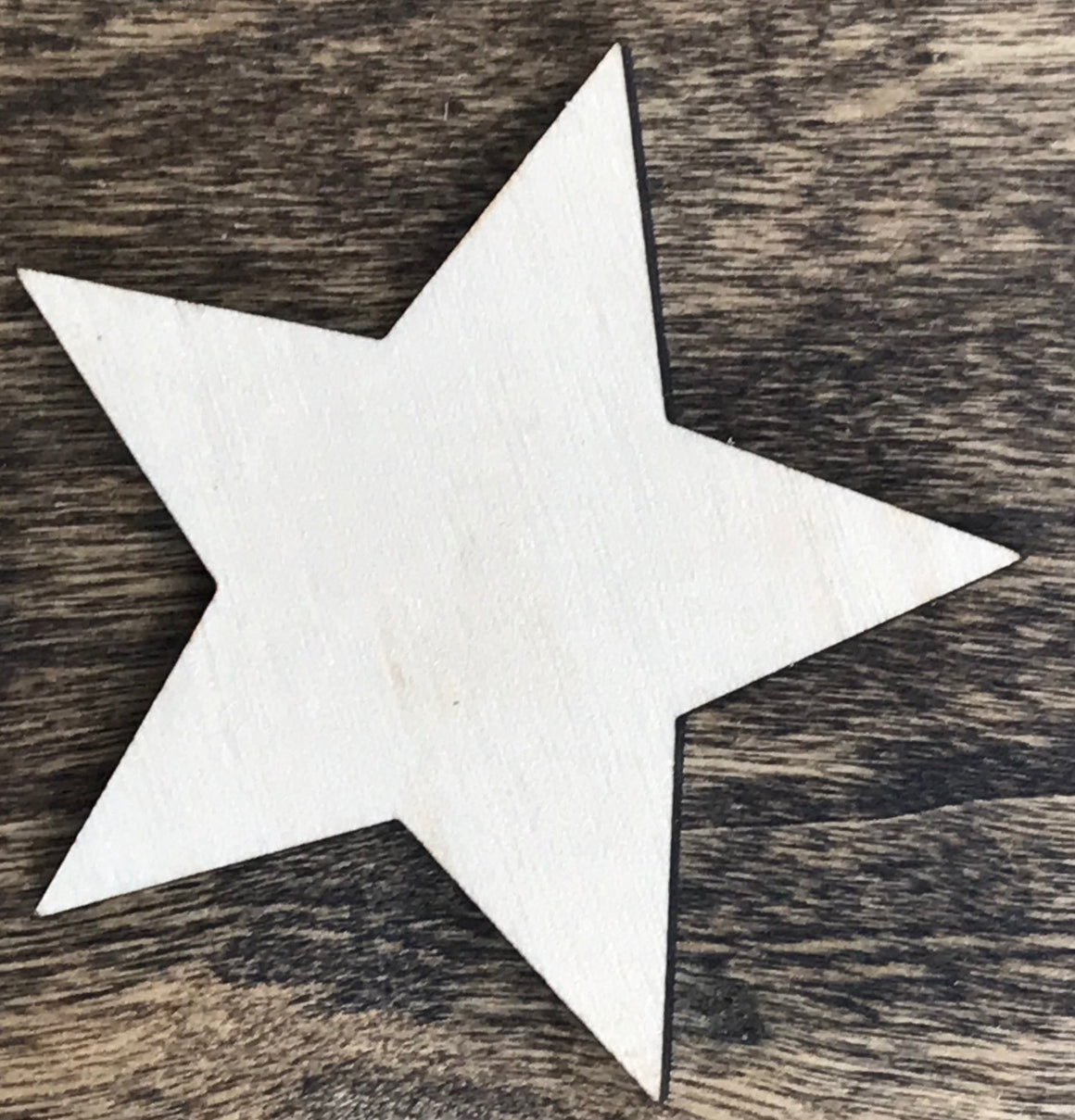 Star w/ Sharp Corners - Unfinished Wood Blank