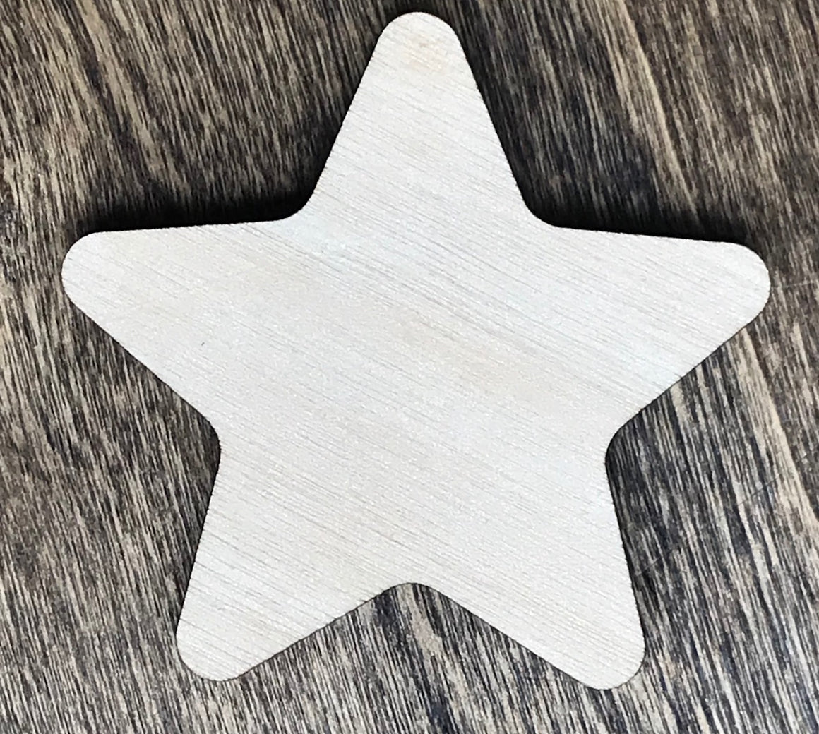 Star w/ Soft Corners - Unfinished Wood Blank