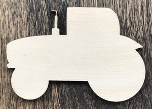 Tractor - Unfinished Wood Blank