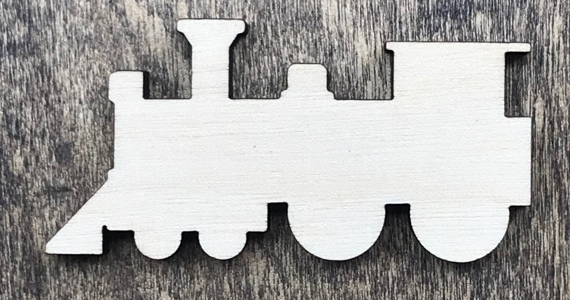 Train - Unfinished Wood Blank