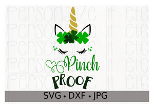 St. Patty's Day Pinch Proof Unicorn - Personalize It Etc