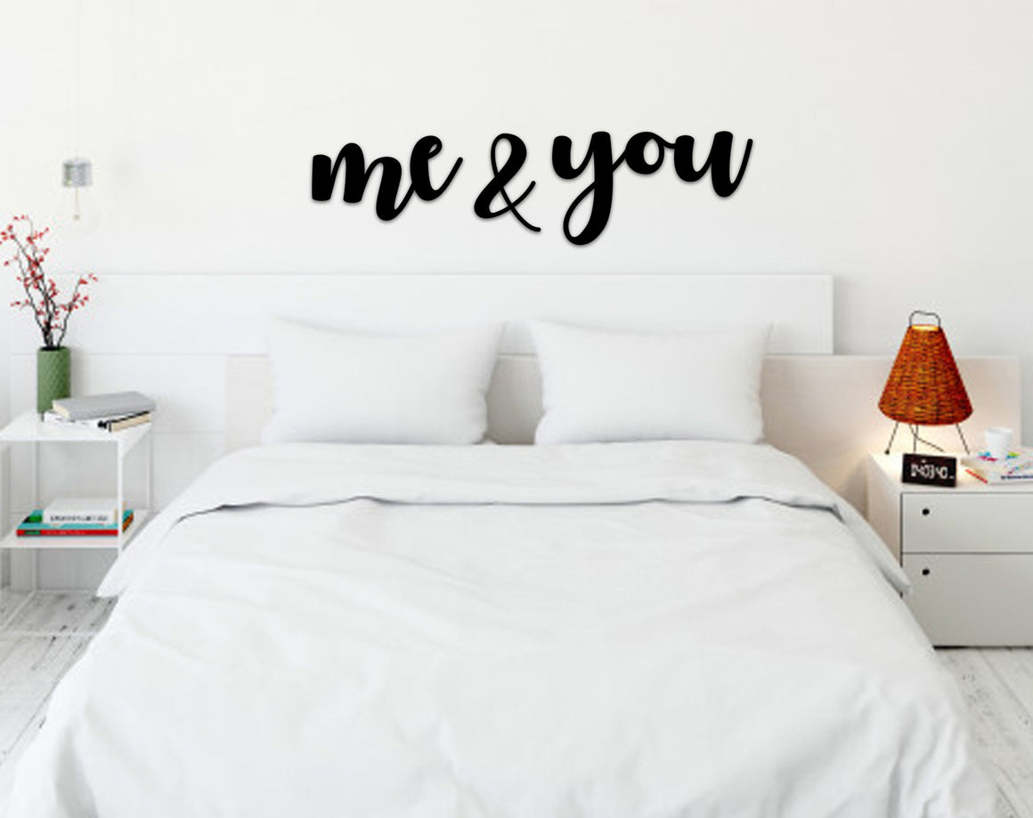 me & you Script / Scroll Wall Art