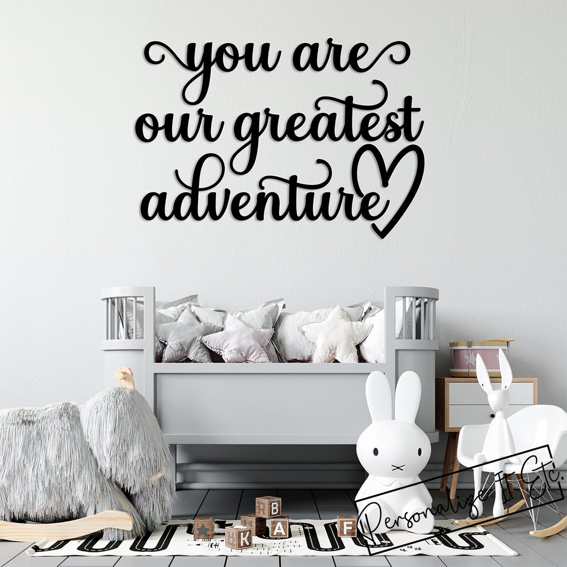 you are our greatest adventure Script / Scroll Wall Art