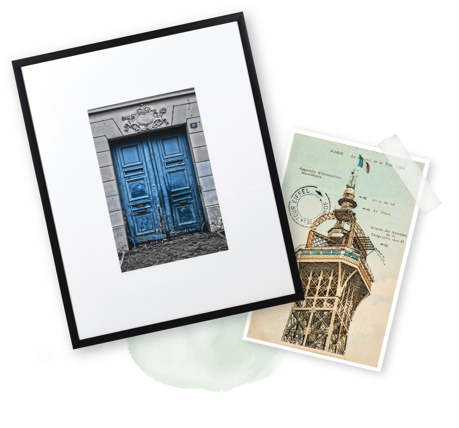 Tres Bleu Picture in Frame