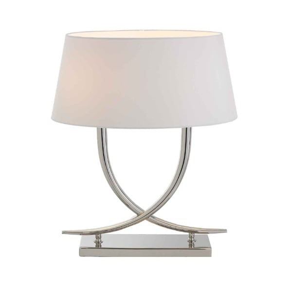 RV Astley Arianna Twin Bulb Polished Nickel Table Lamp