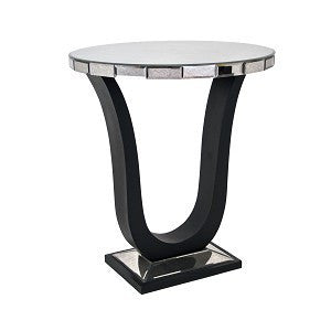 RV Astley Berlin Art Deco Black Mirrored Side Table
