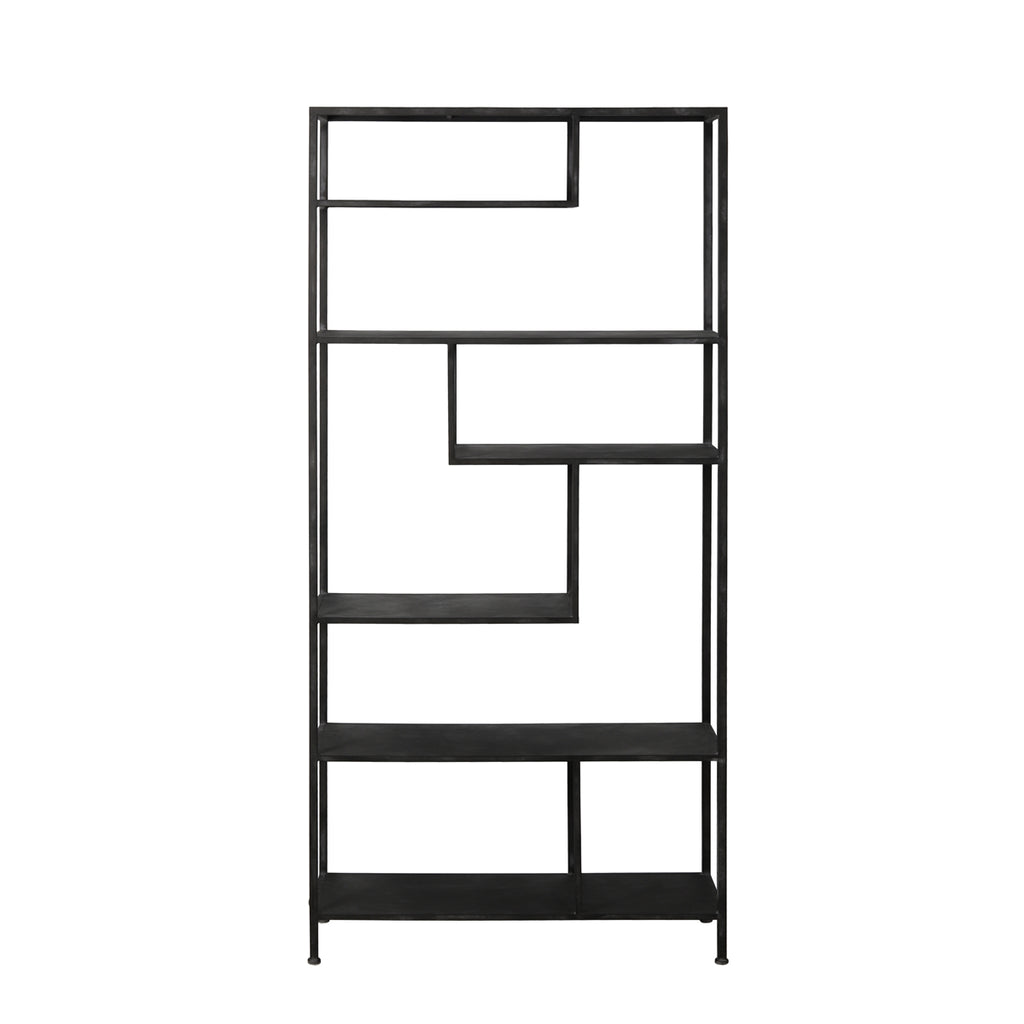 Adelaide Shelving Cabinet in Antique Black Metal
