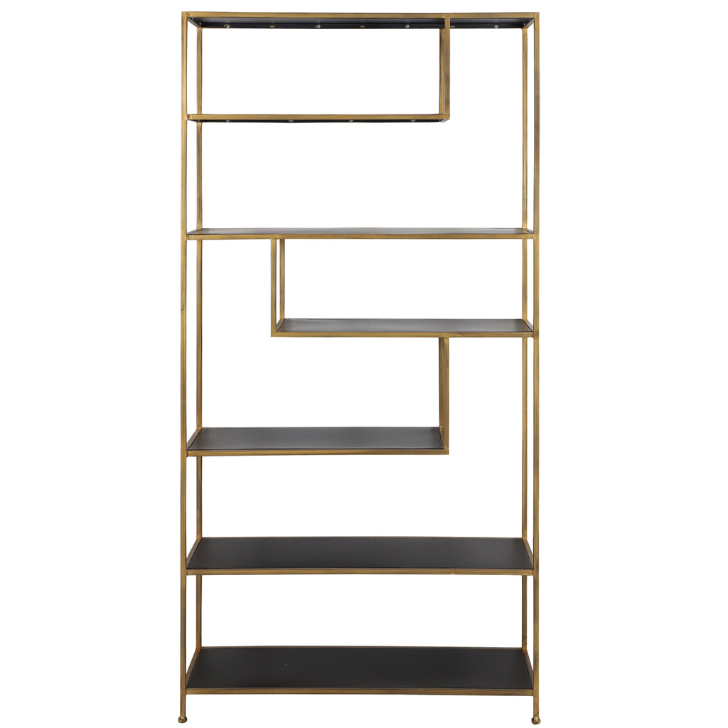 Adelaide Shelving Cabinet in Gold Metal
