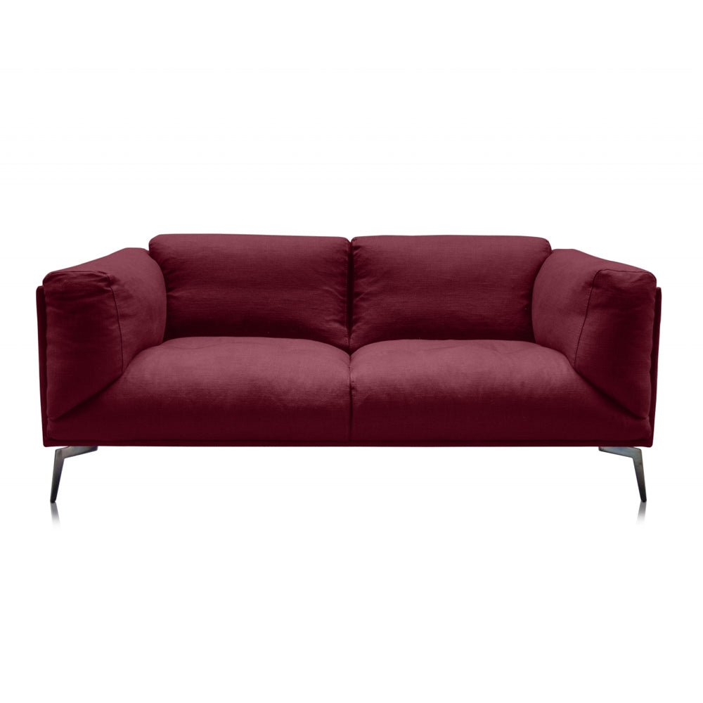 Alberta Two-Seater Sofa with Reynaldo Rave Dry Rose Fabric