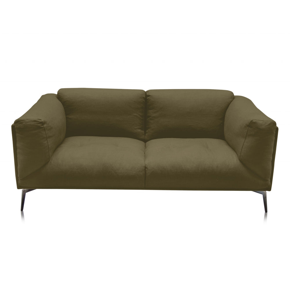 Alberta Two-Seater Sofa with Reynaldo Rave Military Olive Fabric