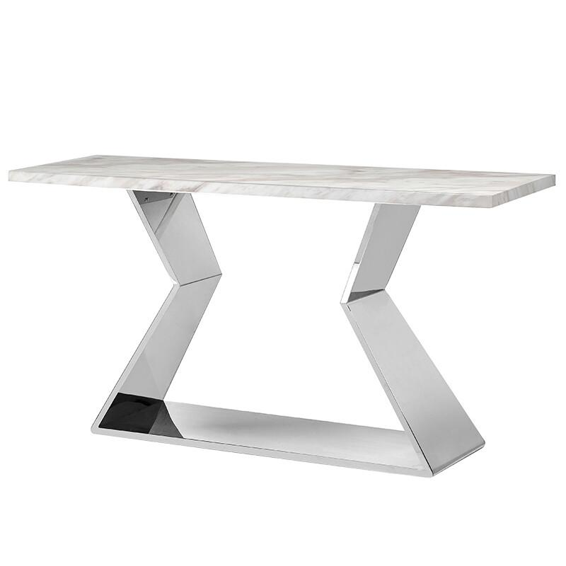 Alexa White Marble Console Table