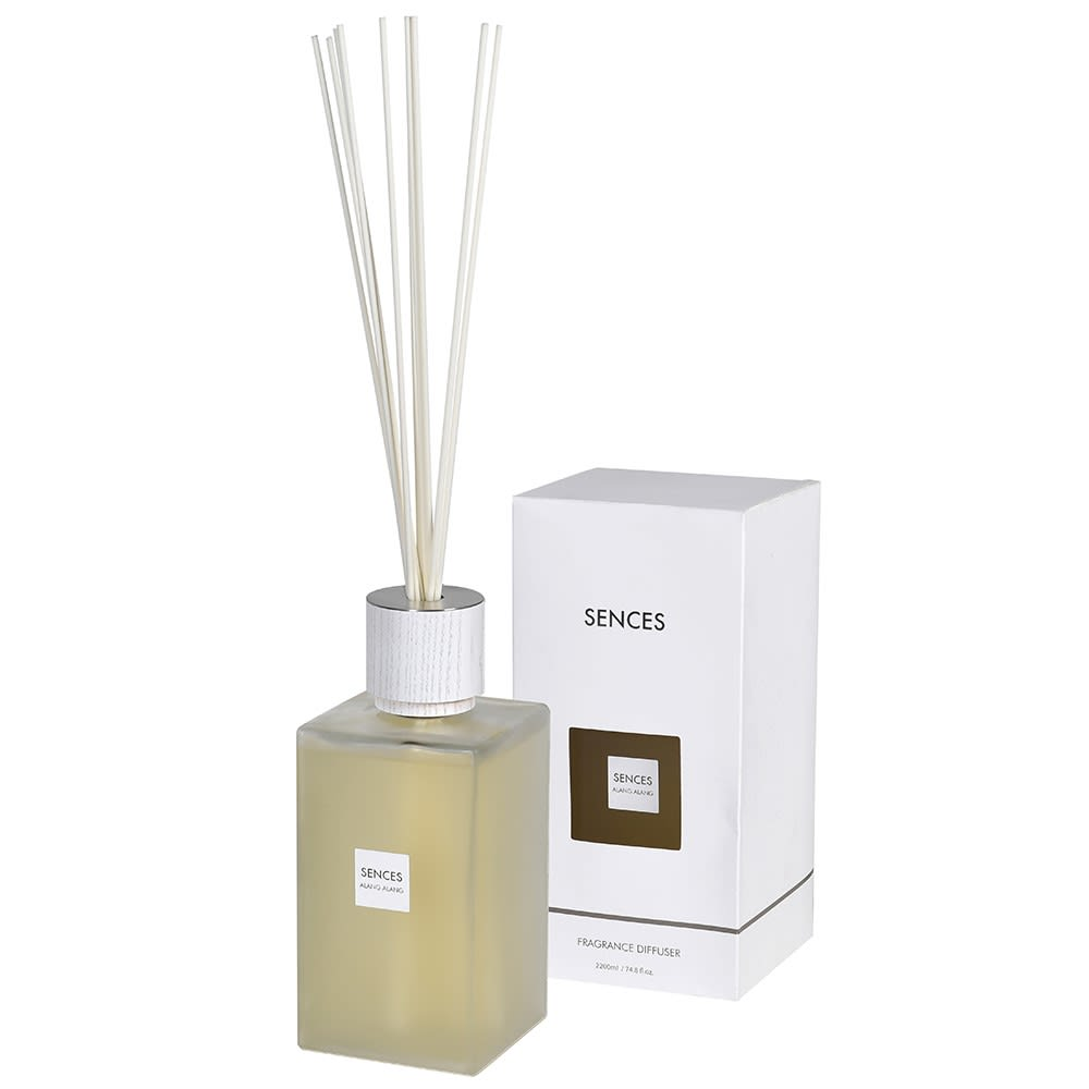 Enormous Amora Reed Diffuser with White Frosted Bottle