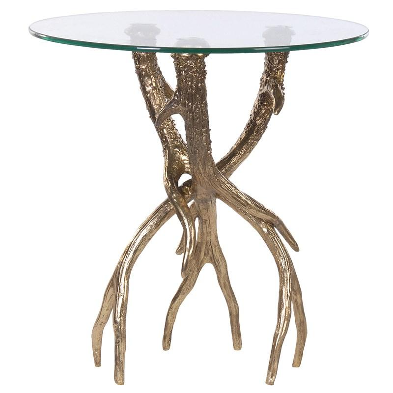 Ariete Gold Antler Side Table