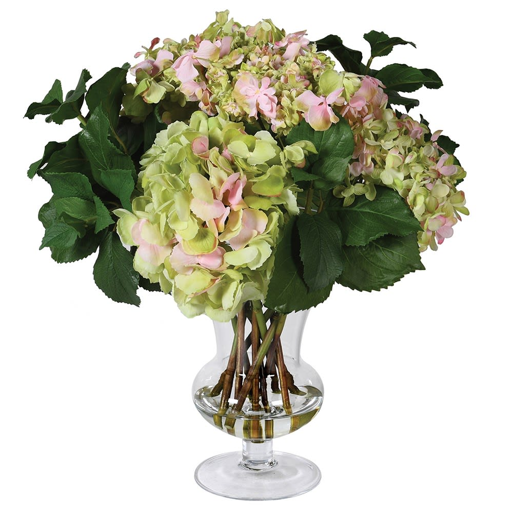 Asianna Floral Arrangement in Glass Vase