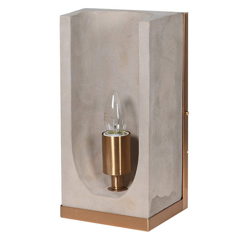 Assourdi Wall Light in Concrete