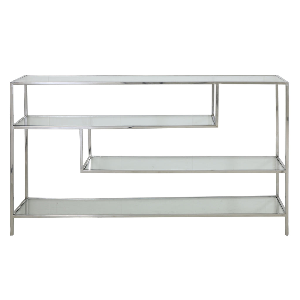 Auris Low Shelving Unit in Nickel