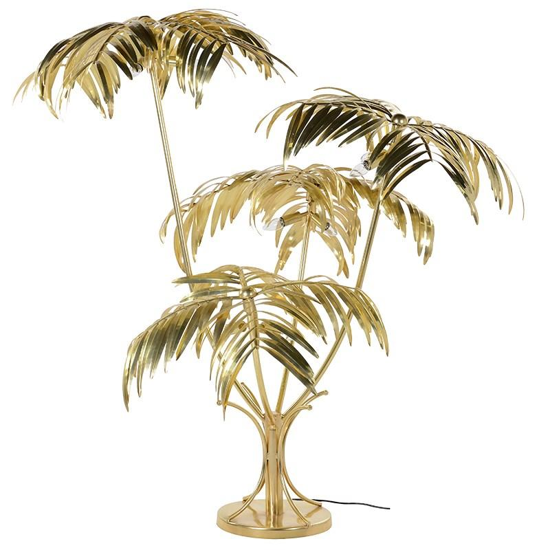 Bahamas Golden Palm Tree Floor Lamp