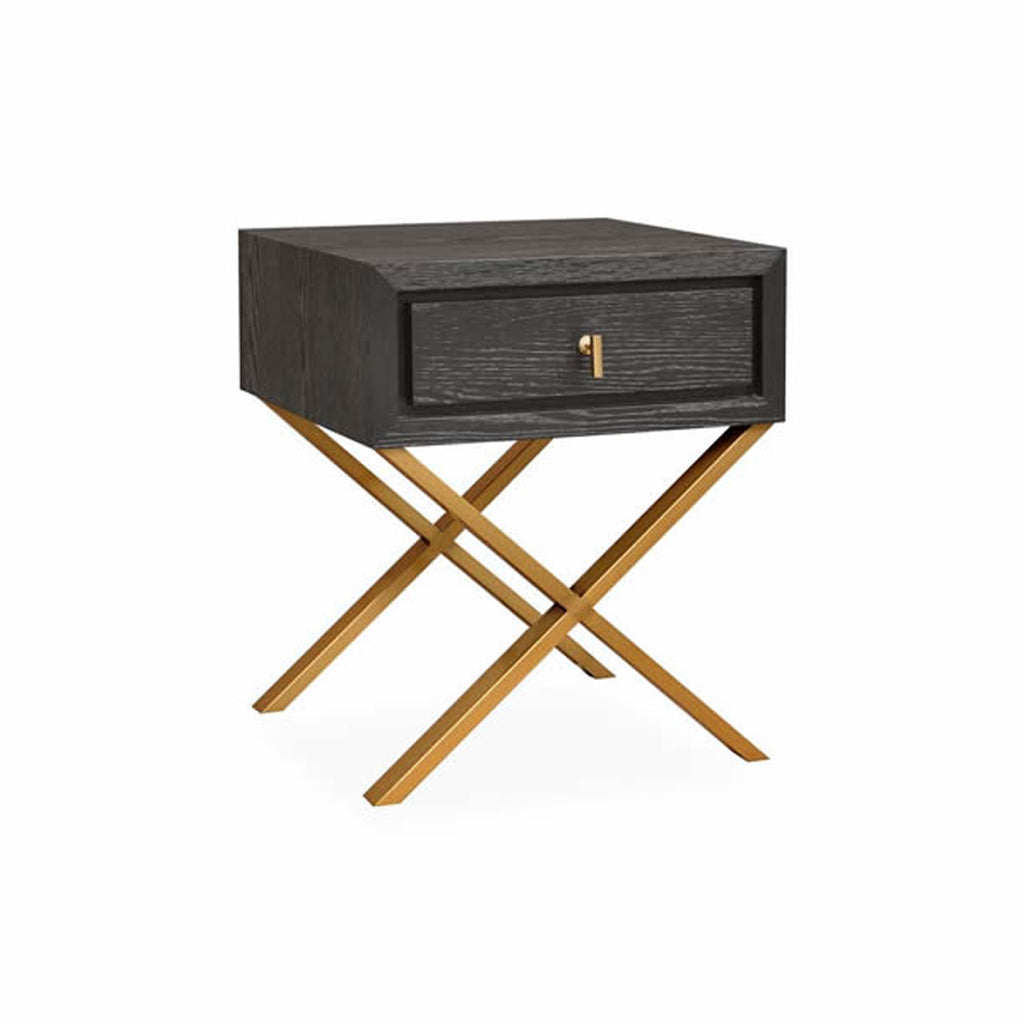Belina Side Table in Textured Espresso Oak