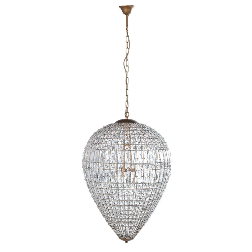 Bellini Large Dome Chandelier with Elegant Crystal