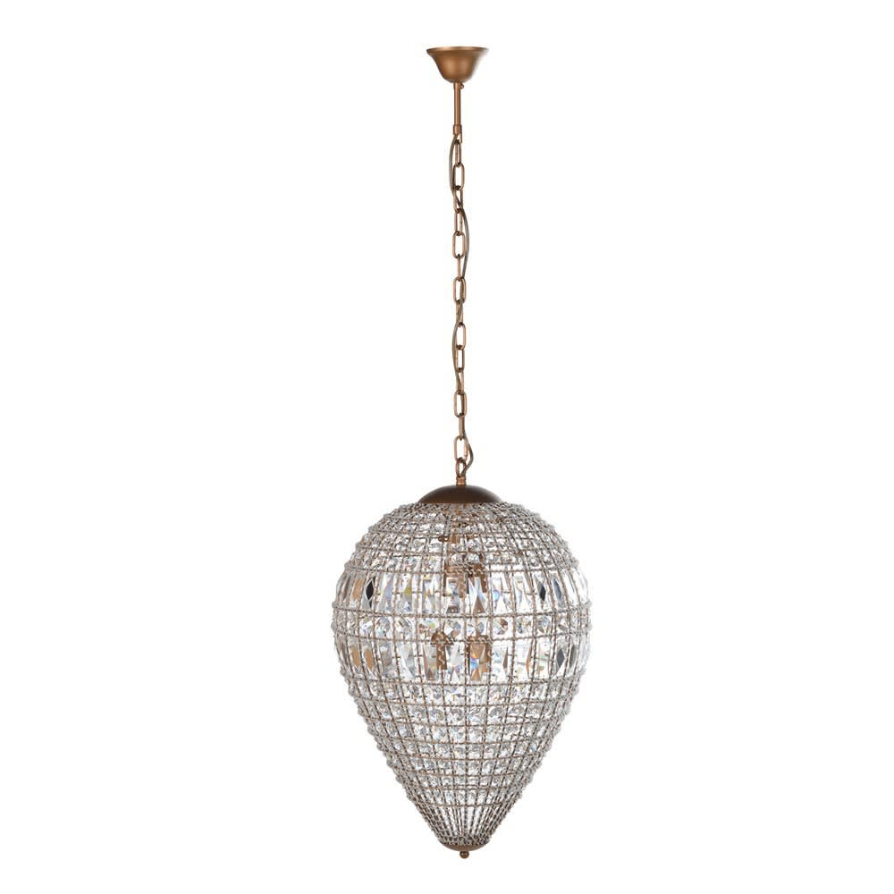 Bellini Medium Dome Chandelier with Elegant Crystal