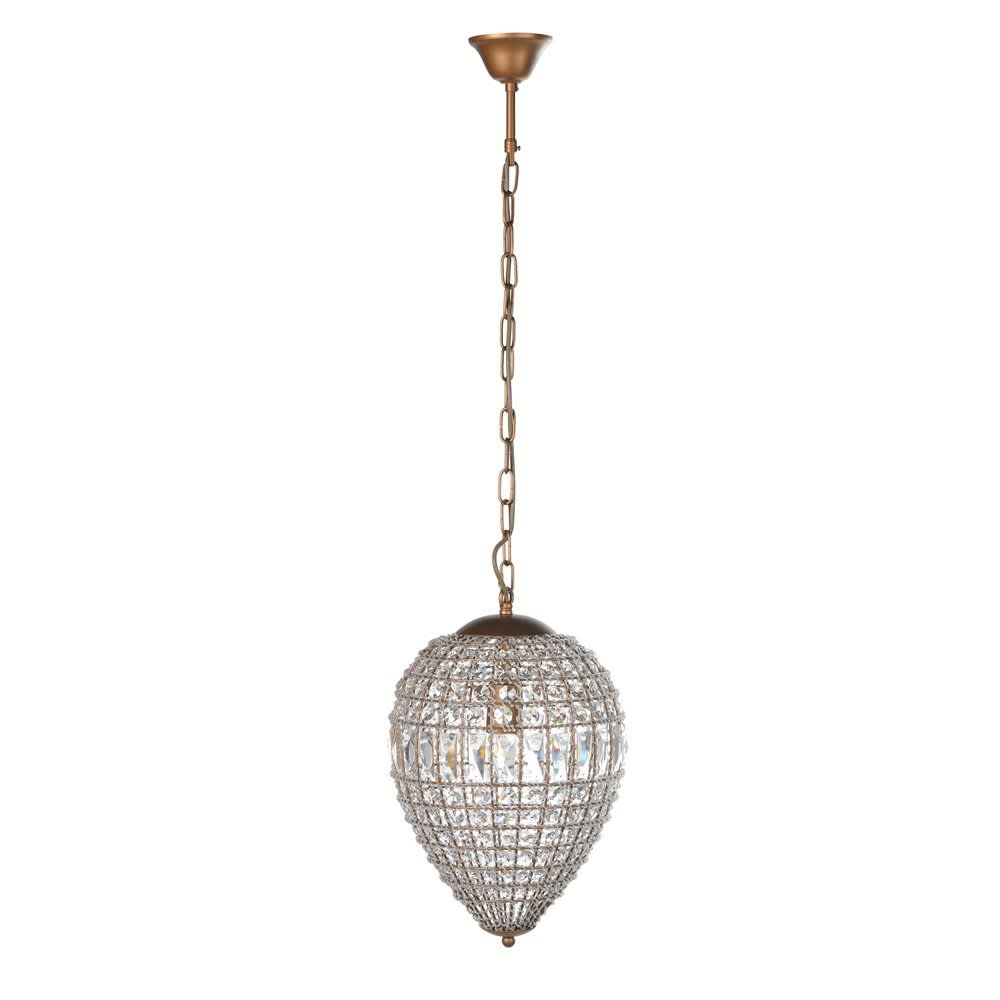 Bellini Small Dome Chandelier with Elegant Crystal