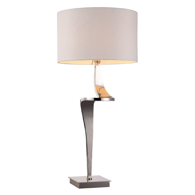 Rv astley enzo bendy nickel table lamp shropshire design for Chunky wooden floor lamp
