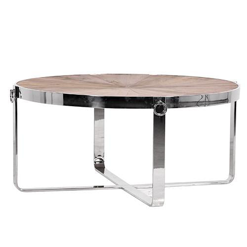 Berkshire Chrome & Wood Coffee Table