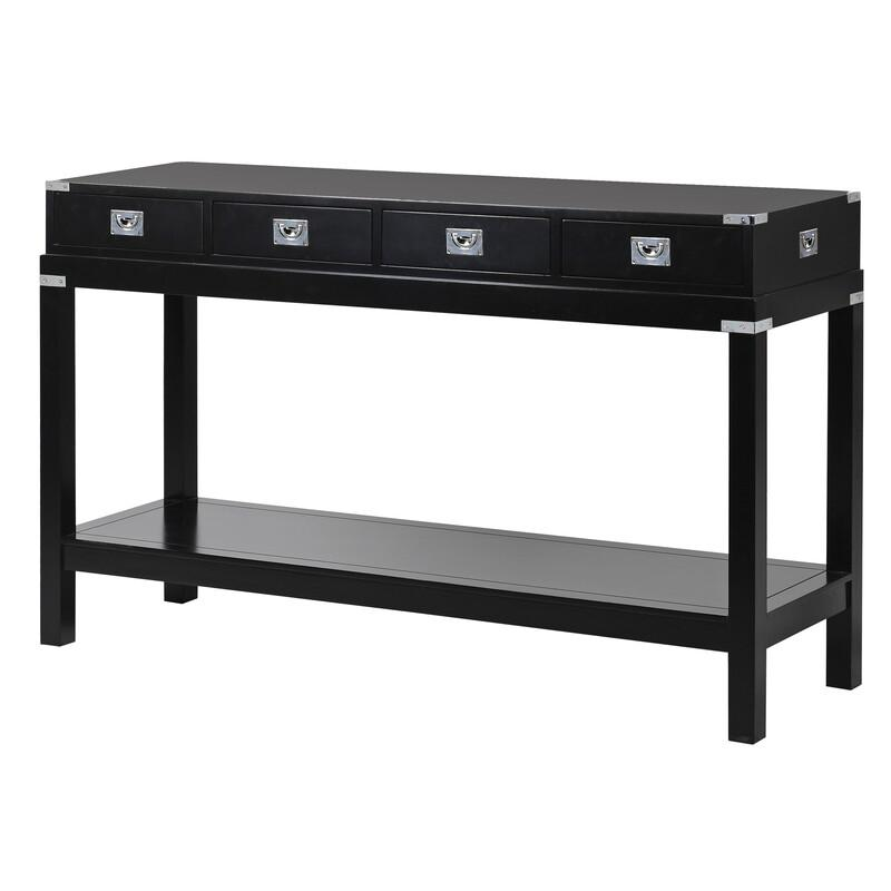 Black and Chrome Park Lane Hall Table