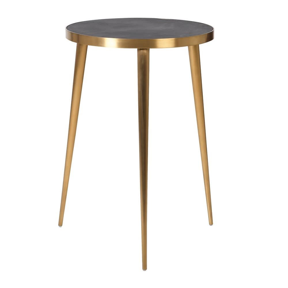 Breeze Gold and Black Concrete Side Table