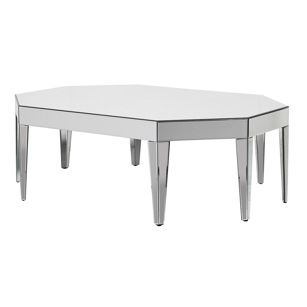 Brisbane Large Coffee Table with Mirror