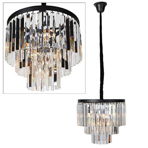 Broadway Round Crystal Droplet Chandelier