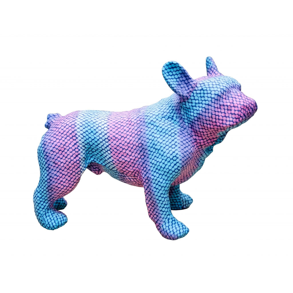 Bulldog in Blue and Purple