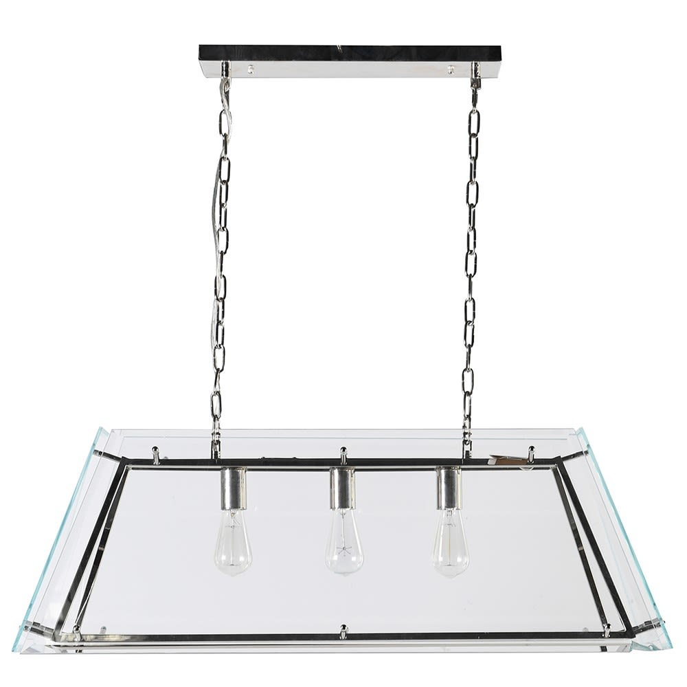 Carnegie Framed Ceiling Light with Glass