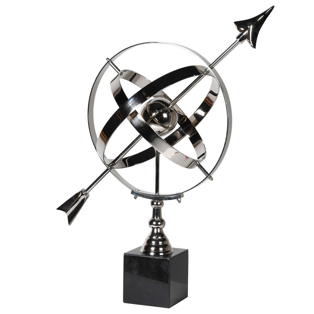 Celestia Armillary Sphere on a Granite Block